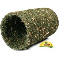 JR FARM Średni tunel z siana + naturalnego drewna