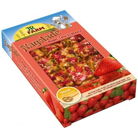 JR FARM Tabliczka dla gryzoni z truskawkami 125 g