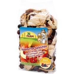 JR FARM Chipsy z owoców dzikiej róży i jabłek 125g